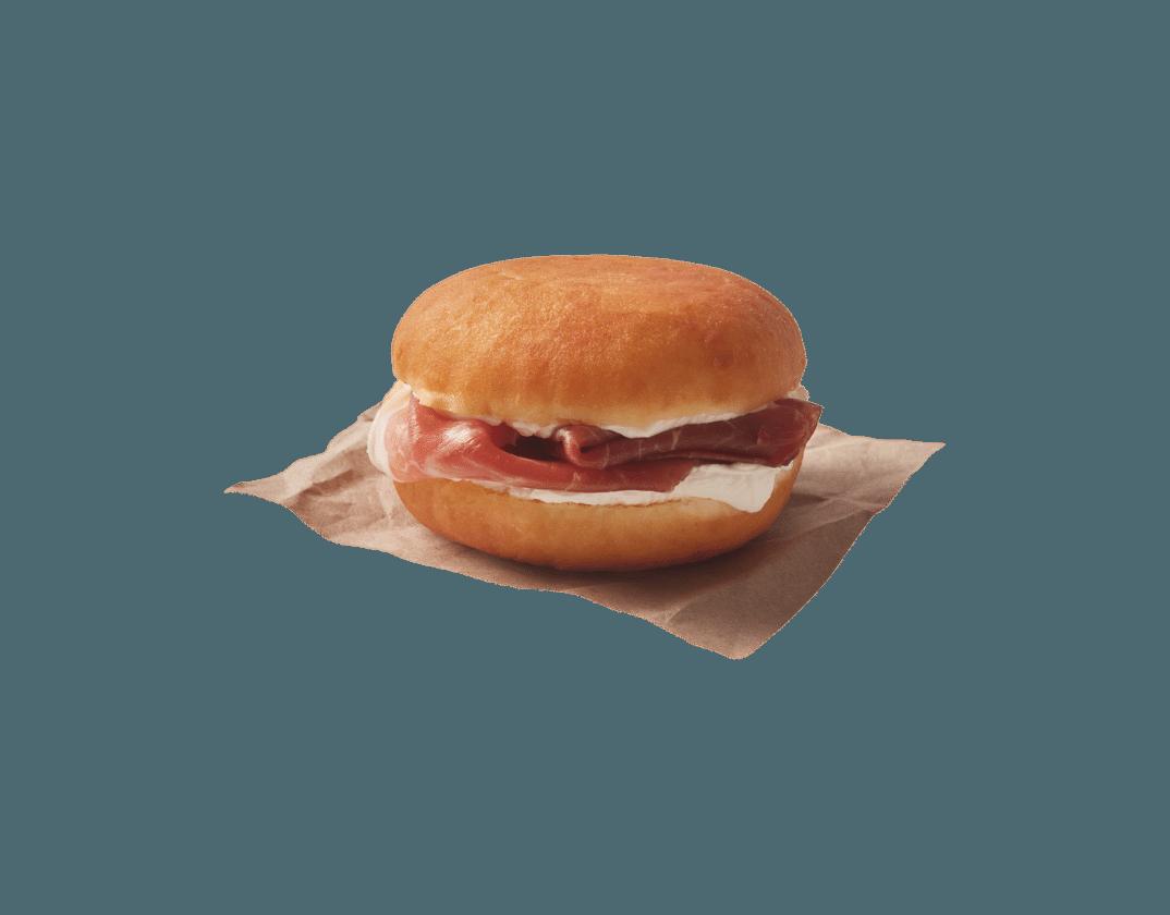 Gourmet Dunkin Sandwich Jamon Serrano y Queso crema