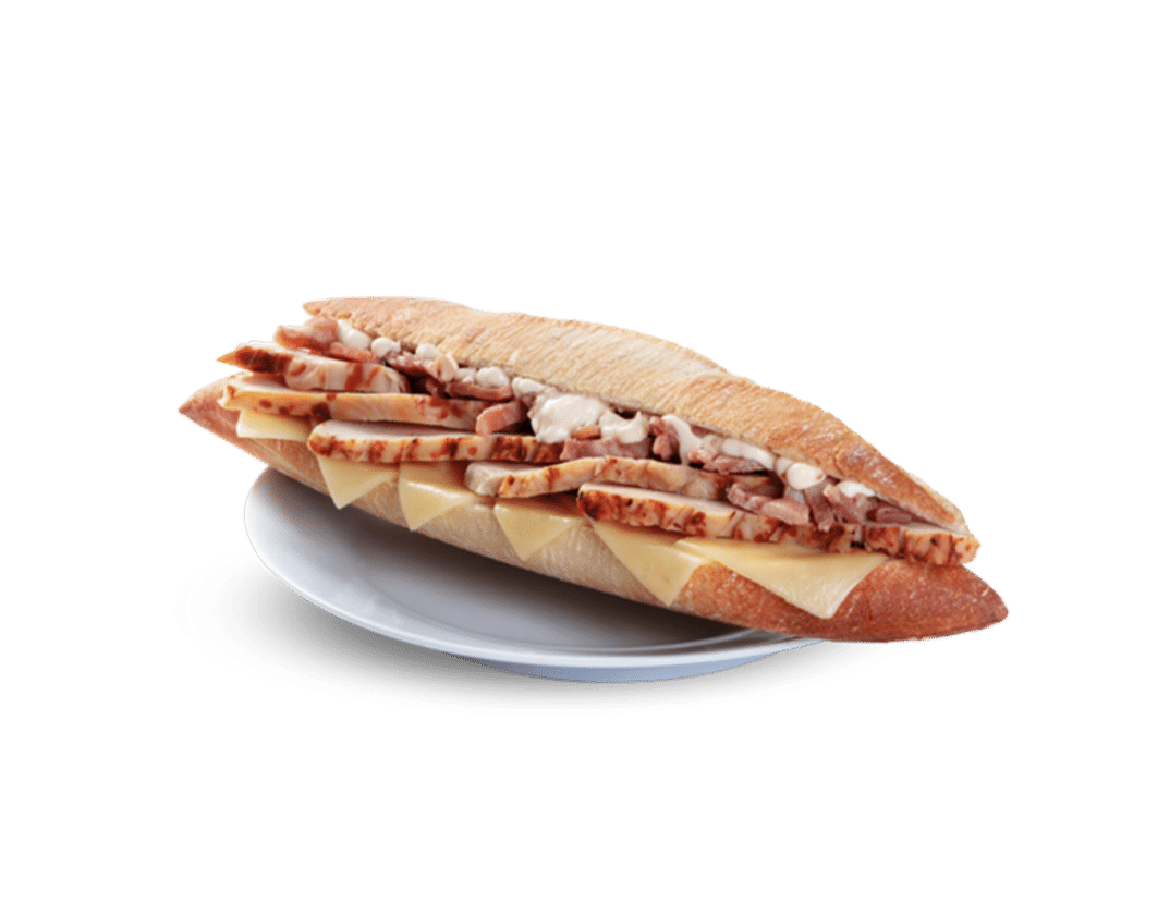 Pan rústico Pollo César